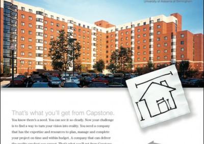 Capstone Development Napkin Ad