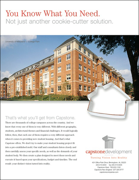Capstone Cookie-Cutter Ad