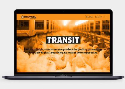 Transit pH Conditioner Website