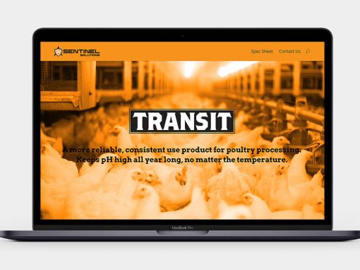 Transit pH Conditioner Website