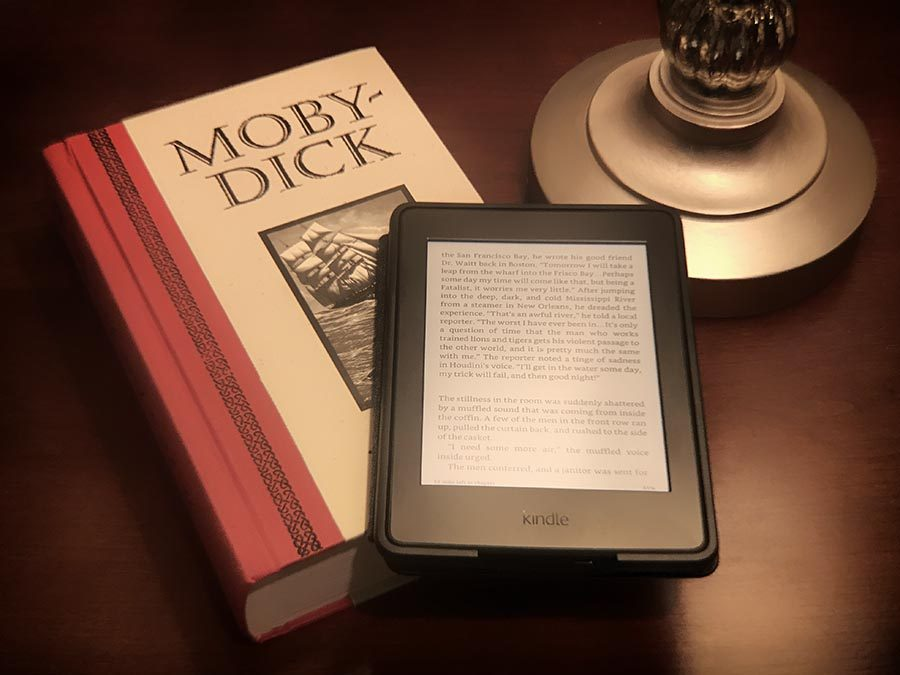 Kindle and Moby Dick book