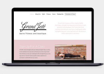Grand Jeté Fitness Website