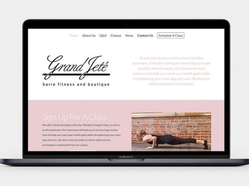 Grand Jeté Fitness Website
