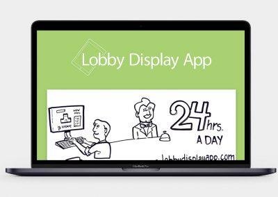 Lobby Display App Website