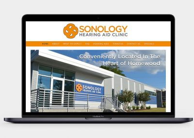Sonology Hearing Aid Clinic Website