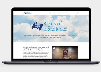 Signs of Excellence LLC Website